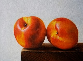 """Nectarines"" original fine art by Jonathan Aller"