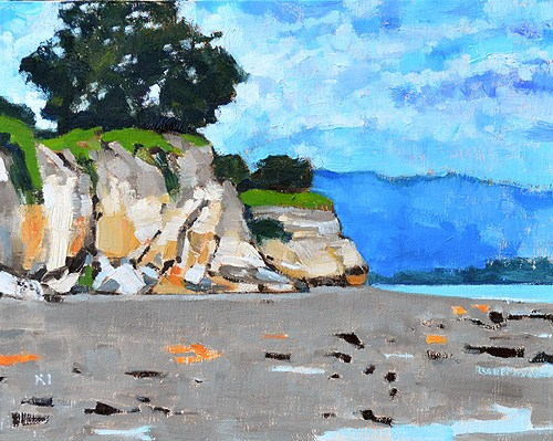 """Leadbetter Beach, Santa Barbara California"" original fine art by Kevin Inman"