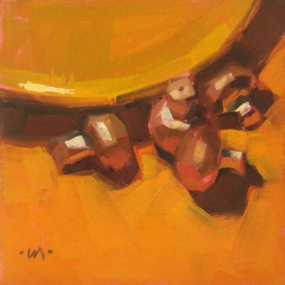 """lotsa mushrooms"" original fine art by Carol Marine"
