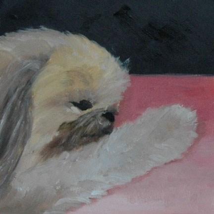 """RILEY 2"" original fine art by Linda Popple"