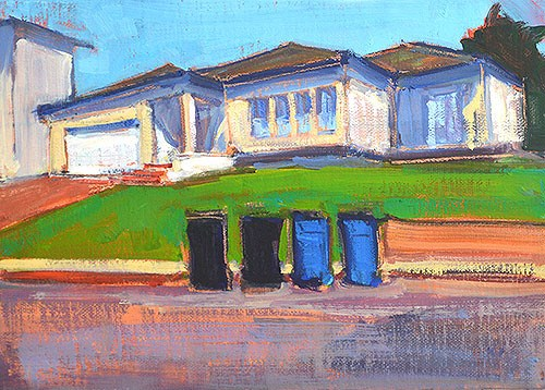 """The Last Lawn in California"" original fine art by Kevin Inman"