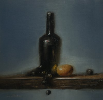 """Bottle n Blue - study"" original fine art by Neil Carroll"