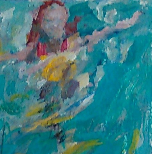 """Jump In"" original fine art by Ann Rudd"