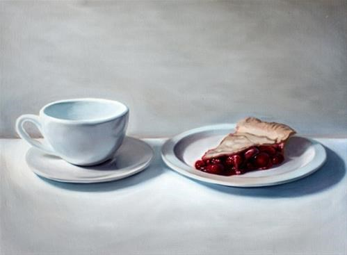 """Coffee and Pie"" original fine art by Lauren Pretorius"