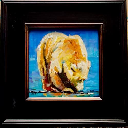 """ARTOUTWEST DIANE WHITEHEAD CHRISTMAS BUYS BEAR ART ANIMALS  Gift Ideas"" original fine art by Diane Whitehead"