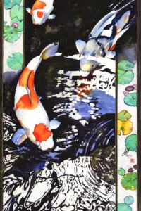 """Koi (Carps)"" original fine art by Mariko Irie"