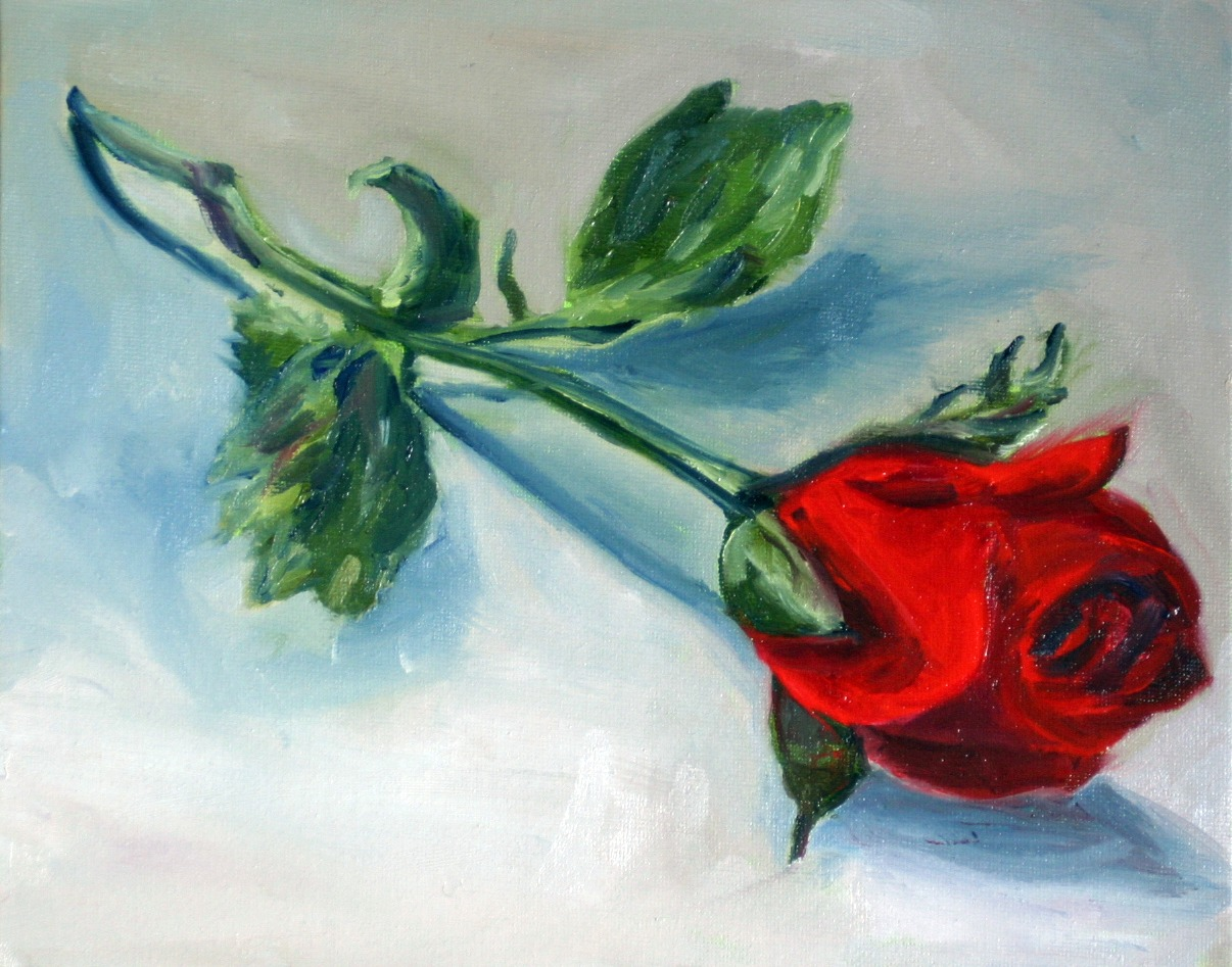 """valentines rose"" original fine art by Kristen Dukat"
