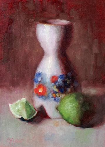 """Year of the Lime"" original fine art by Cindy Haase"