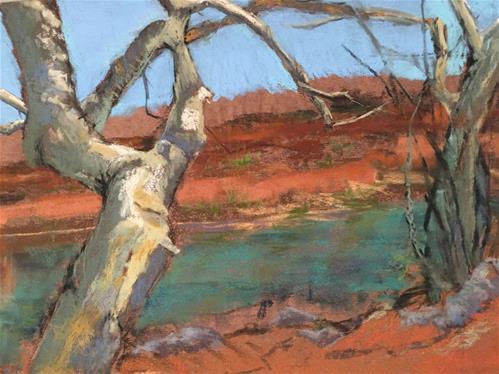 """Oak Creek Sedona"" original fine art by Mary Weil"