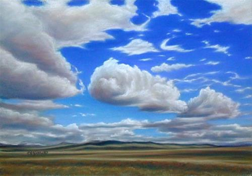"""Coming Around the Mountain"" original fine art by Carol Zirkle"