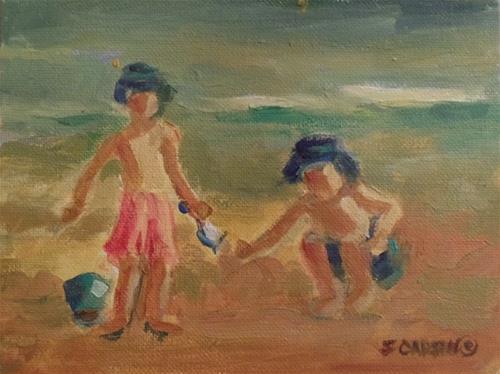 """Beach Boys"" original fine art by Suzanne Carson"
