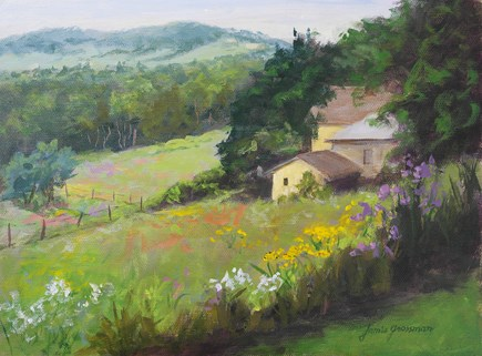 """Summer at the Old Homestead"" original fine art by Jamie Williams Grossman"