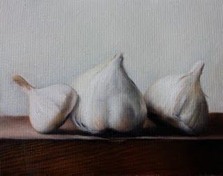 """Garlics"" original fine art by Jonathan Aller"