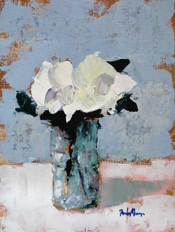 """White Floral"" original fine art by Pamela Munger"