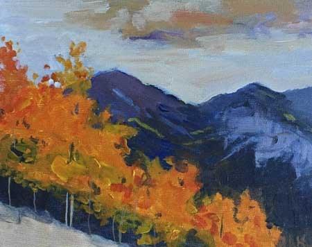 """""""Aspens II"""" original fine art by Pamela Munger"""