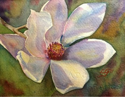 """Day 28 - Japanese Magnolia"" original fine art by Lyn Gill"