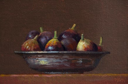 """Figs in a Copper Bowl"" original fine art by Abbey Ryan"