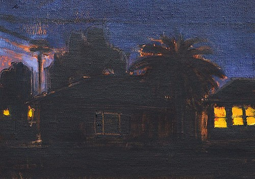 """Nocturne, South Park"" original fine art by Kevin Inman"