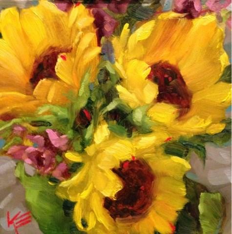 """Summertime Blooms"" original fine art by Krista Eaton"