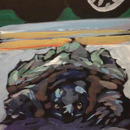 """March 3, Snapper on the Road"" original fine art by Kat Corrigan"