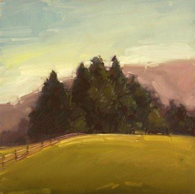 """""""Outer Pasture"""" original fine art by Laurel Daniel"""