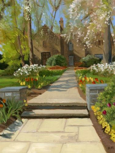 """Merion Spring"" original fine art by Nancy Herman"