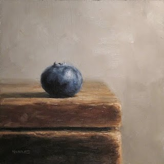 """Single Blueberry"" original fine art by Michael Naples"
