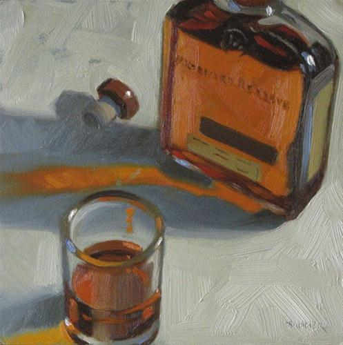 """Woodford Reserve 6x6 oil"" original fine art by Claudia Hammer"