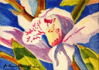 """Orchid"" original fine art by JoAnne Perez Robinson"