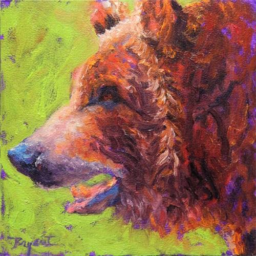 """Bear Encounter"" original fine art by Debra Bryant"