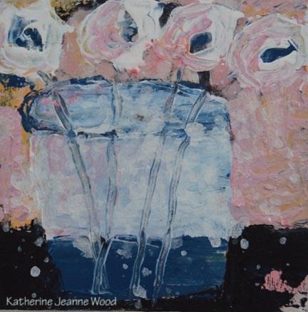 """Flower Series No 78"" original fine art by Katie Jeanne Wood"