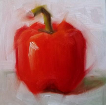 """Pepper Spray"" original fine art by Cindy Haase"