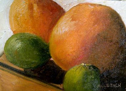 """citrus"" original fine art by Jo Allebach"