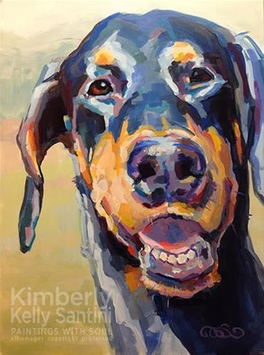 """Lexi, Finished"" original fine art by Kimberly Santini"