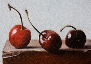 """Cherries 3"" original fine art by Jonathan Aller"