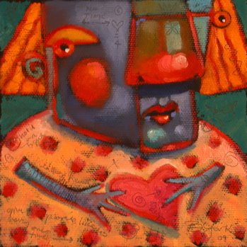 """Funny Valentine"" original fine art by Brenda York"