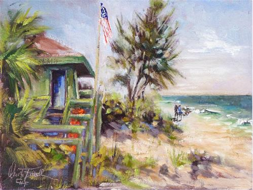 """Manasota Beach, Florida"" original fine art by Christa Friedl"