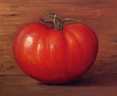 """Ripe Tomato"" original fine art by Abbey Ryan"