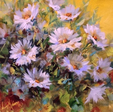 """Dive In Daisies by Floral Artist Nancy Medina"" original fine art by Nancy Medina"