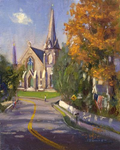 """Autumn in Southport"" original fine art by tony damico"