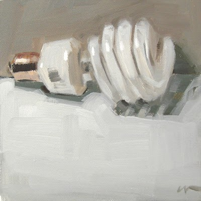 """Lightbulb"" original fine art by Carol Marine"