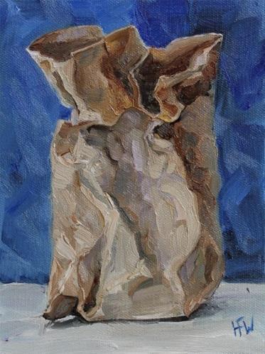 """""""Paper Sack - Challenge"""" original fine art by H.F. Wallen"""
