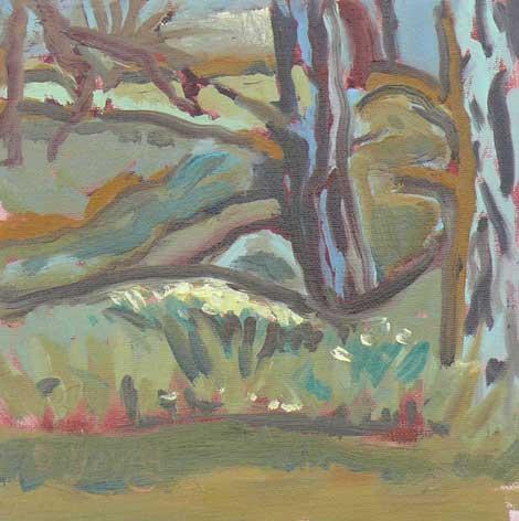 """Forest Floor"" original fine art by Darlene Young"