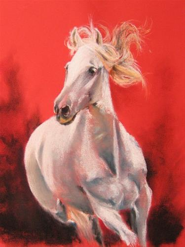 """Arabian white"" original fine art by Marco Vazquez"