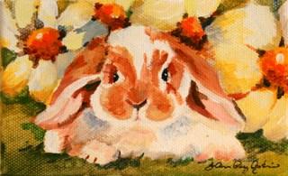 """""""Lazy Bunny"""" original fine art by JoAnne Perez Robinson"""