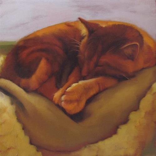 """""""Deep Slumber"""" original fine art by Diane Hoeptner"""