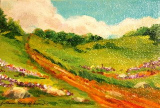 """Monday Morning Stroll"" original fine art by JoAnne Perez Robinson"