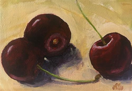 """Two plus one"" original fine art by Anna Starkova"