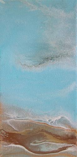 """Contemporary Abstract Seascape Painting,Coastal Art Melody of the Sea Mini# 2 by International Con"" original fine art by Kimberly Conrad"