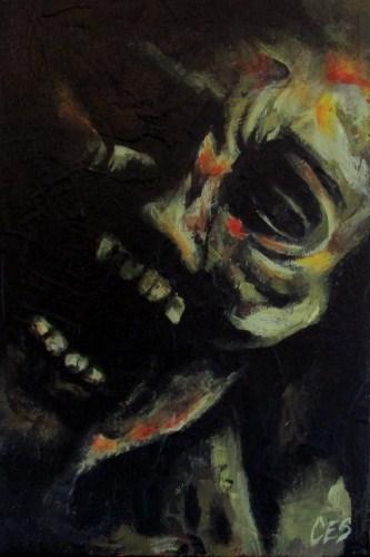 """""""In The Basement"""" original fine art by ~ces~ Christine E. S. Code"""